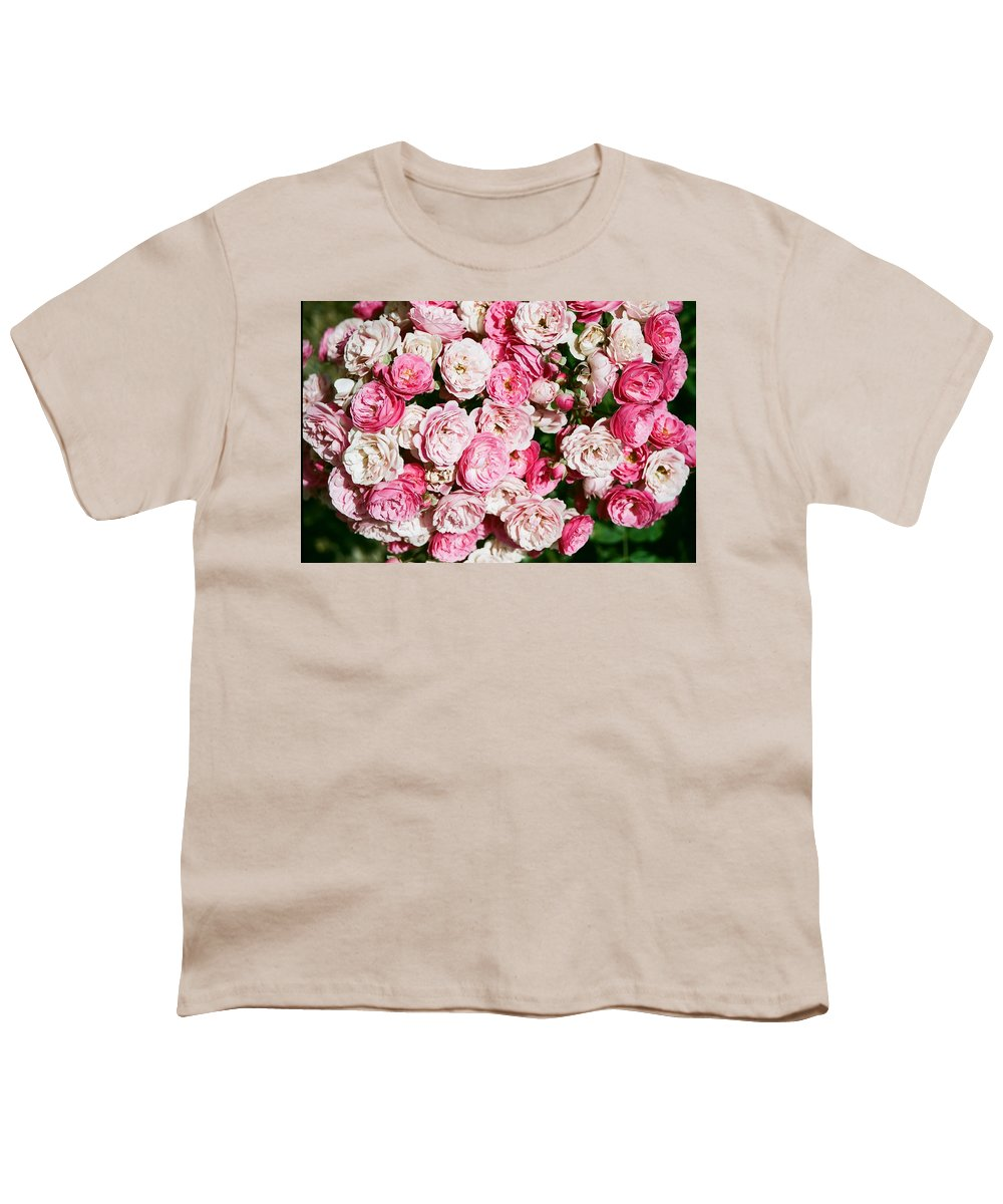 Rose Youth T-Shirt featuring the photograph Cluster Of Roses by Dean Triolo