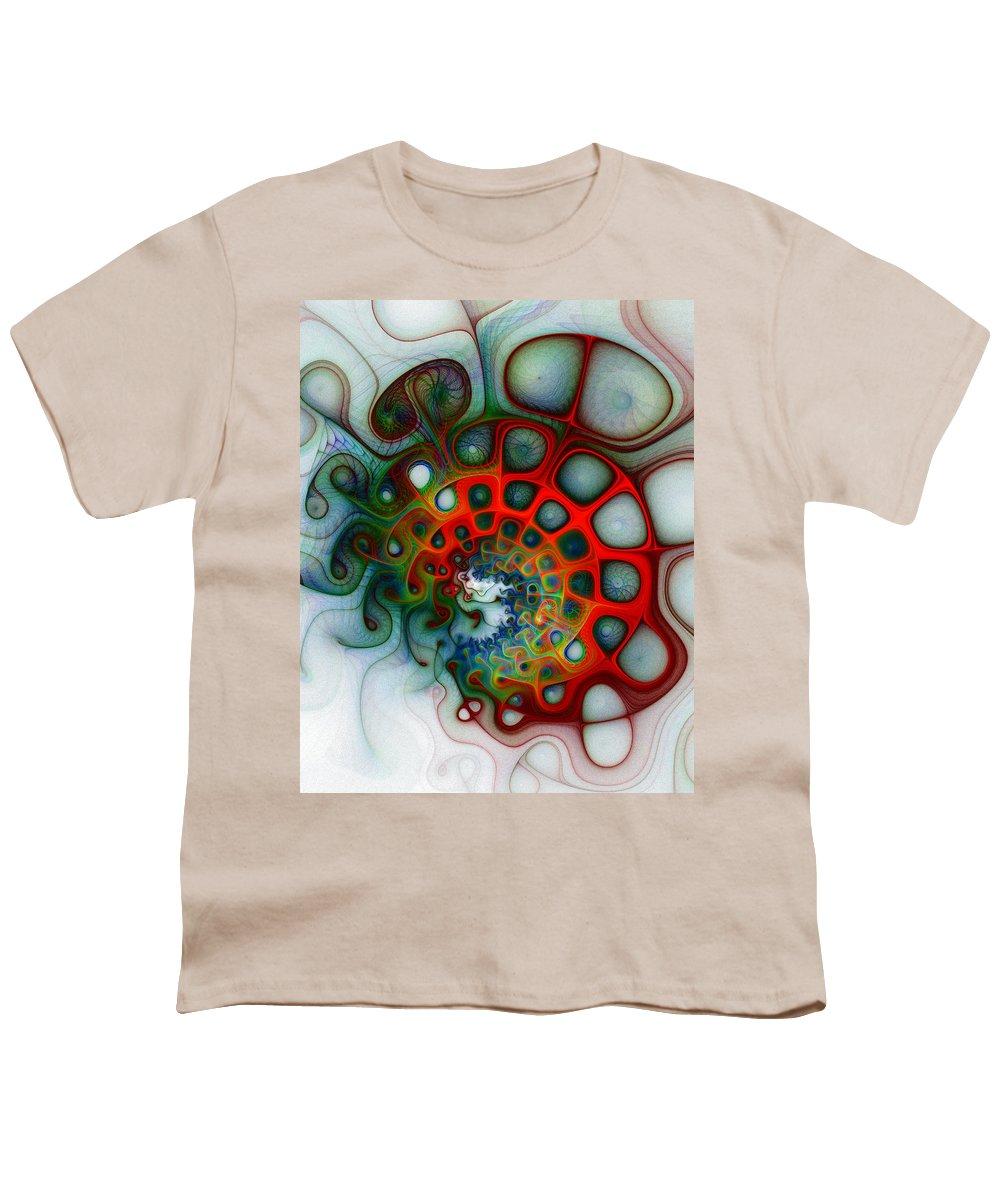 Digital Art Youth T-Shirt featuring the digital art Convolutions by Amanda Moore