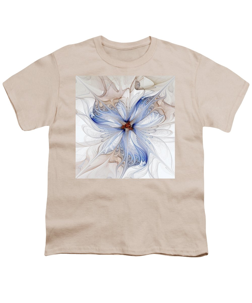 Digital Art Youth T-Shirt featuring the digital art Cornflower Blues by Amanda Moore