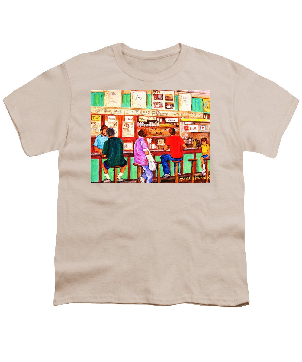 Montreal Youth T-Shirt featuring the painting Counter Culture by Carole Spandau