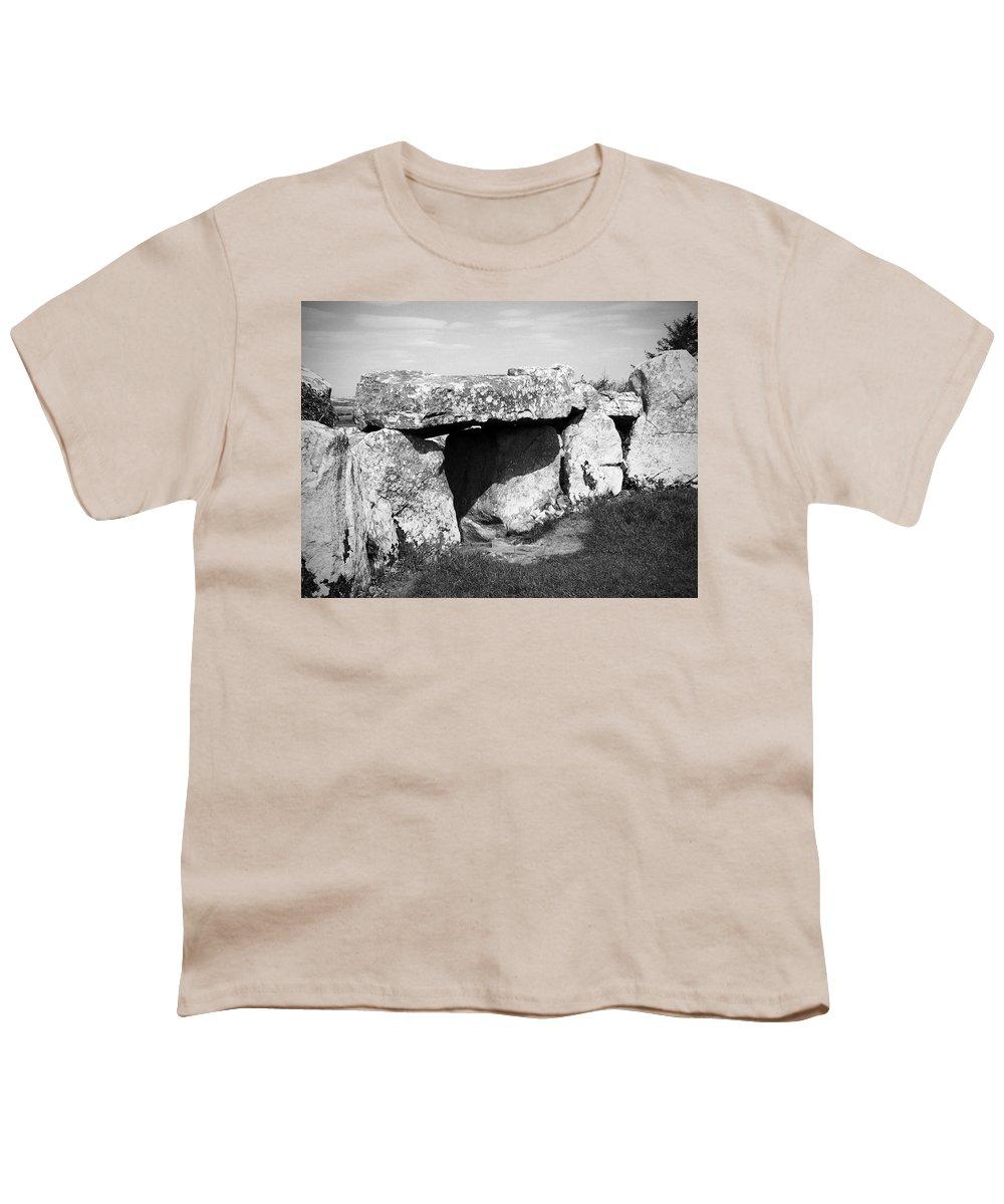 Ireland Youth T-Shirt featuring the photograph Creevykeel Court Cairn County Sligo Ireland by Teresa Mucha