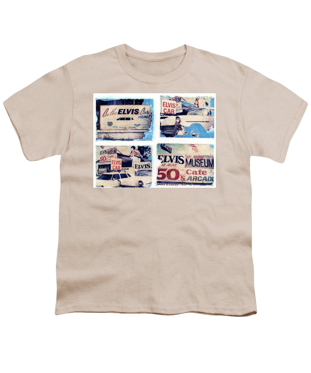 Elvis Youth T-Shirt featuring the photograph Disgraceland by Jane Linders