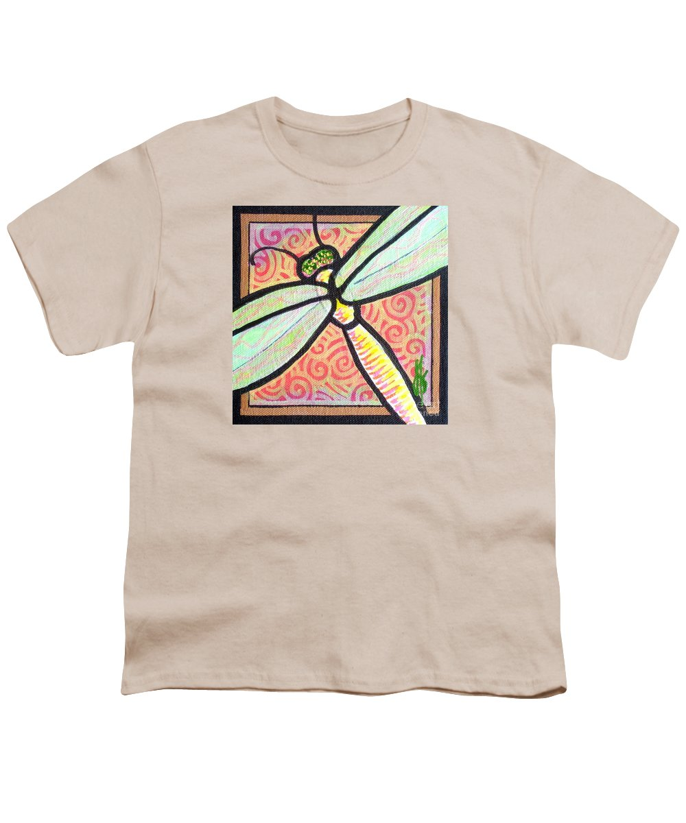 Dragonfly Youth T-Shirt featuring the painting Dragonfly Fantasy 3 by Jim Harris