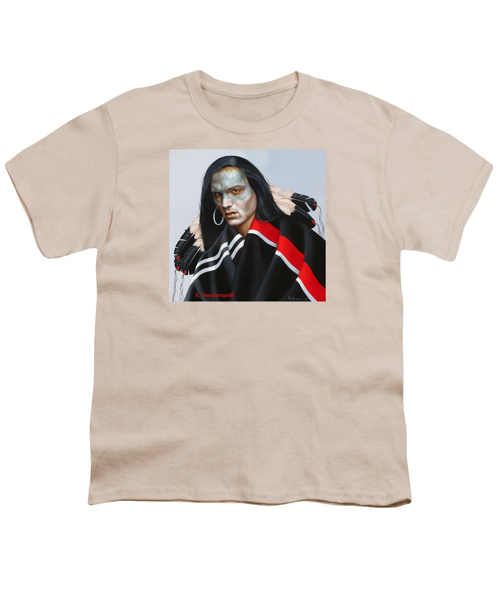 American Indian Youth T-Shirt featuring the painting Dream Within A Dream by K Henderson
