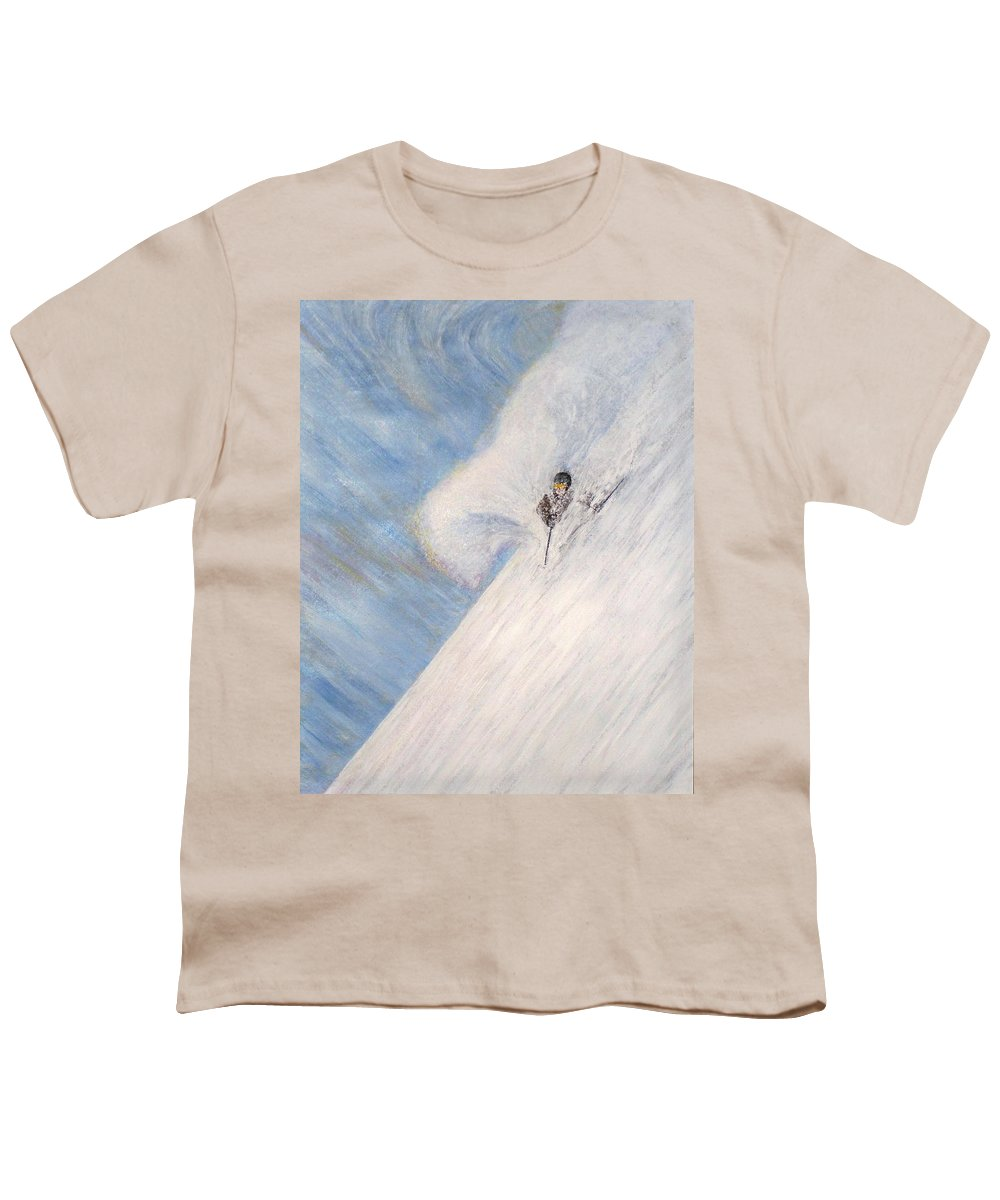Landscape Youth T-Shirt featuring the painting Dreamsareal by Michael Cuozzo