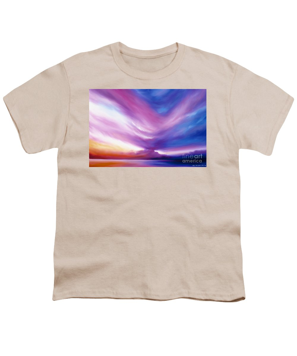 Clouds Youth T-Shirt featuring the painting Ecstacy by James Christopher Hill