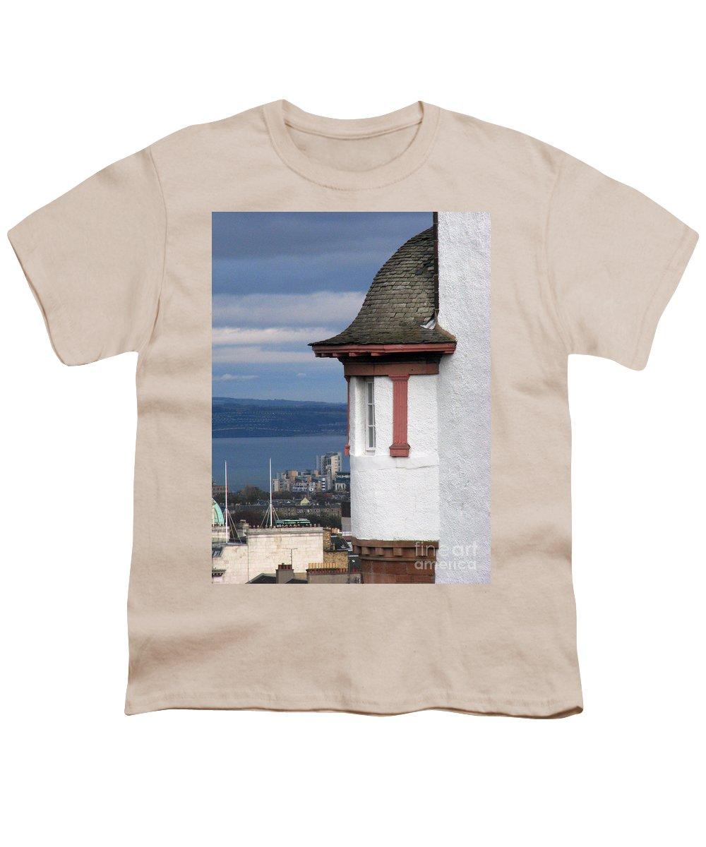 Scotland Youth T-Shirt featuring the digital art Edinburgh Scotland by Amanda Barcon