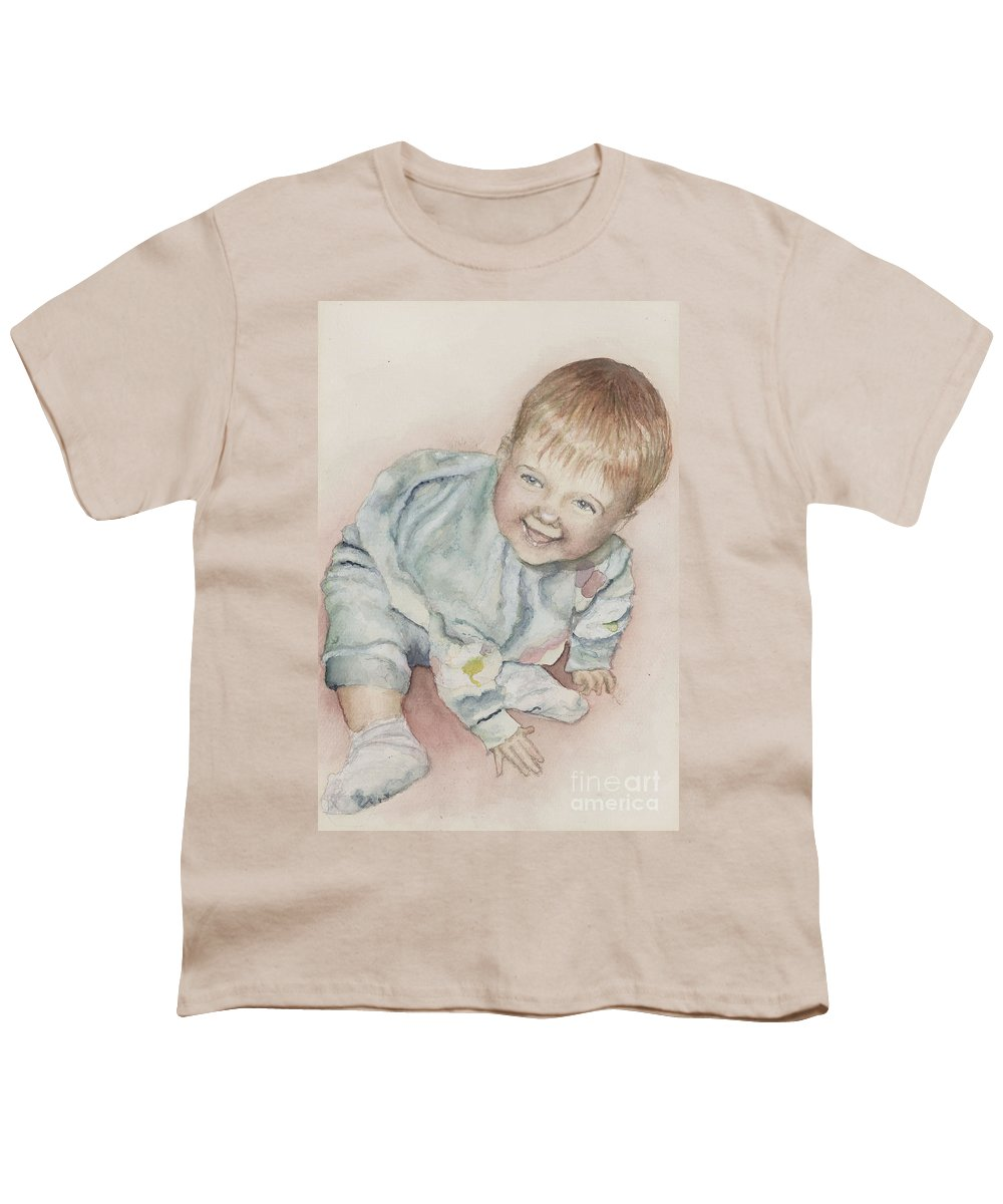 Girl Youth T-Shirt featuring the painting Elise by Nadine Rippelmeyer