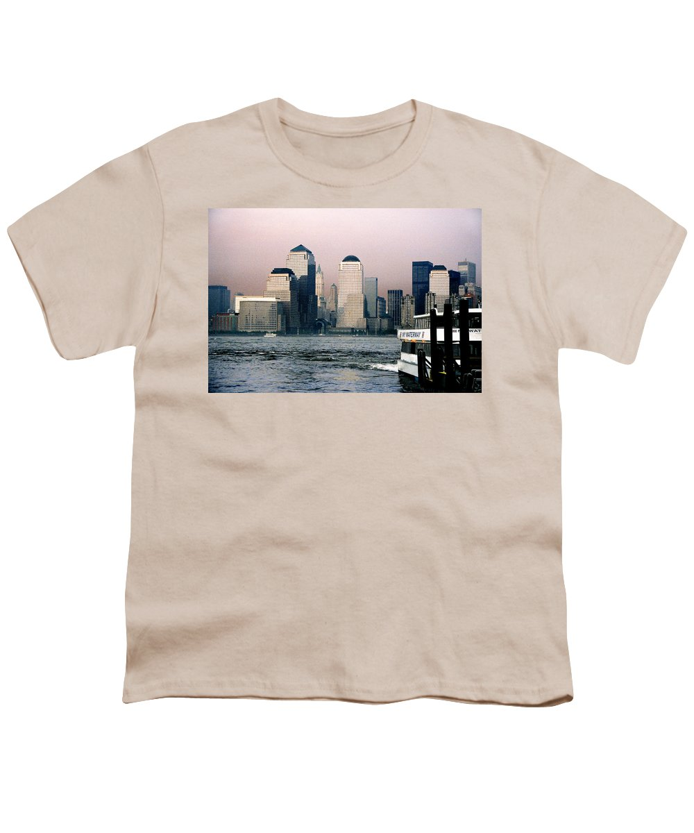New York Youth T-Shirt featuring the photograph Empty Sky by Steve Karol