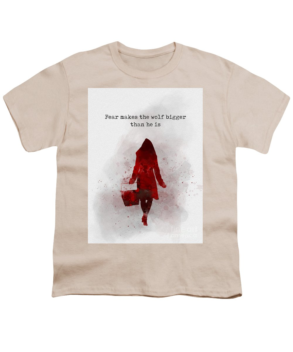 605ca0dc Little Red Riding Hood Youth T-Shirt featuring the mixed media Fear Makes  The Wolf