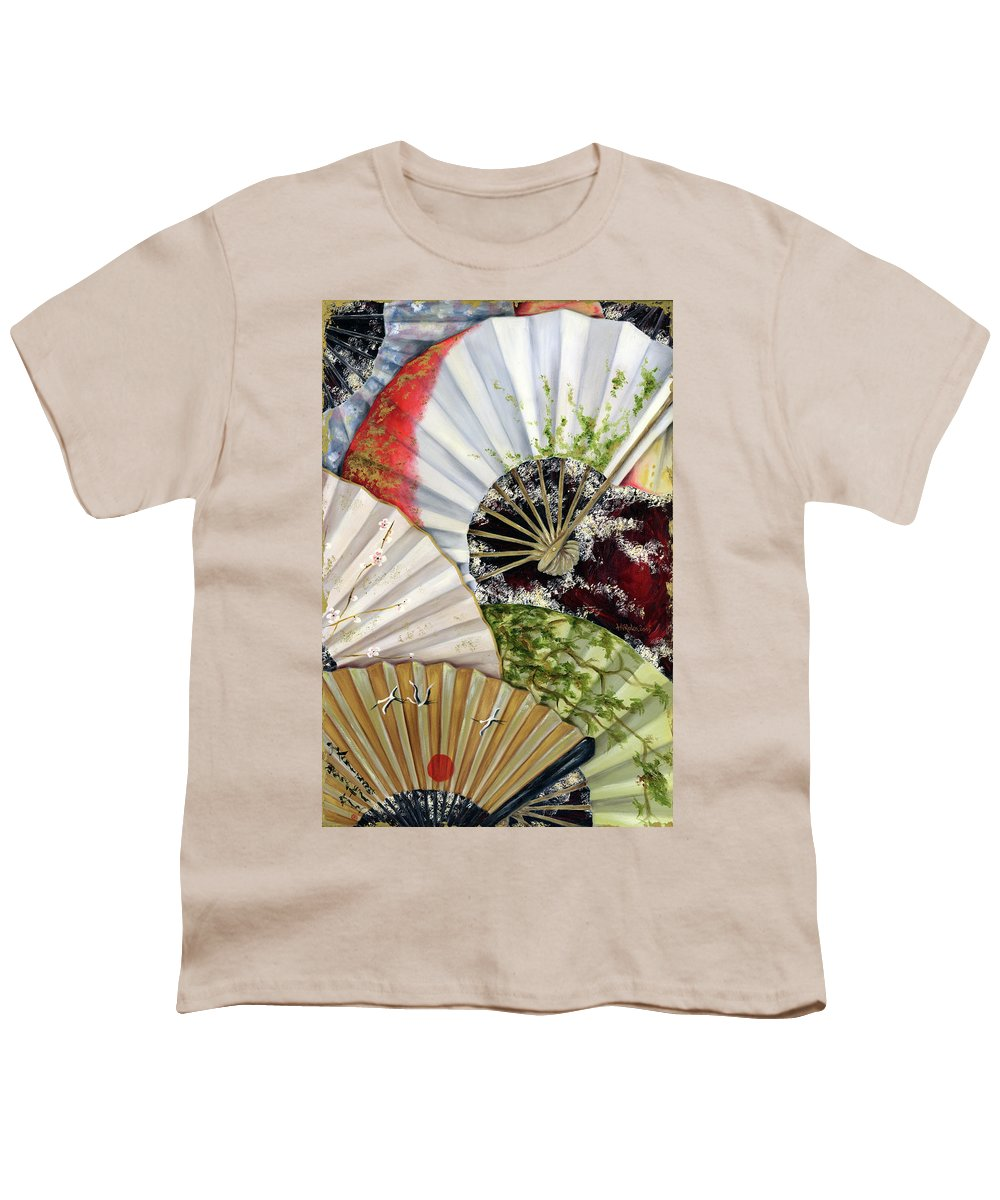 Japanese Youth T-Shirt featuring the painting Flower Garden by Hiroko Sakai