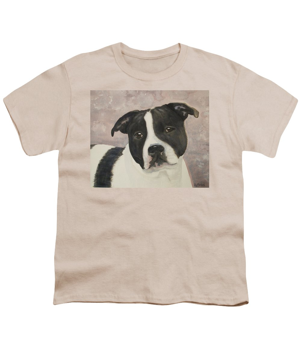 Dog Youth T-Shirt featuring the painting For Me by Ally Benbrook