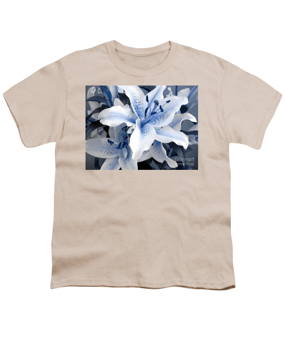 Blue Youth T-Shirt featuring the photograph Freeze by Shelley Jones