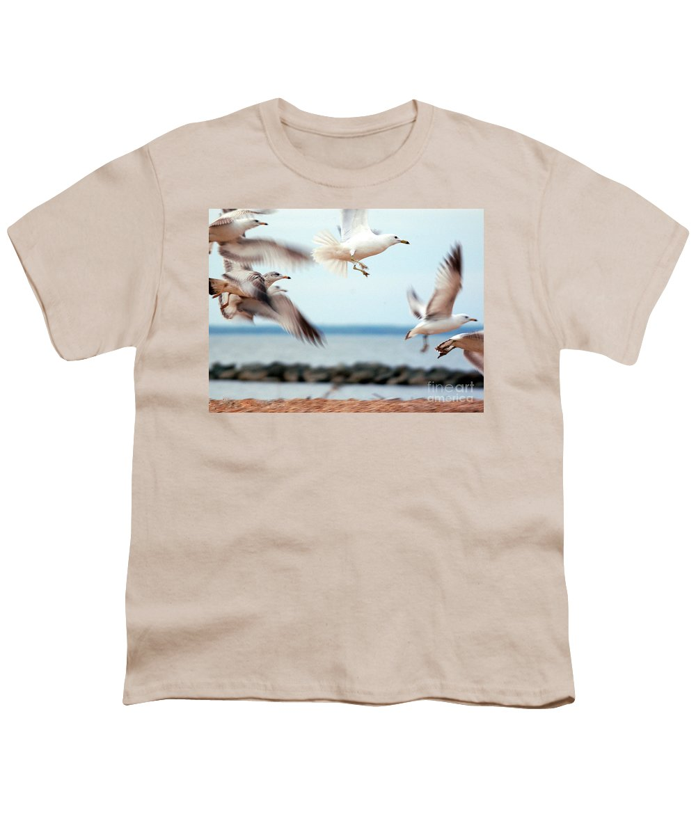 Clay Youth T-Shirt featuring the photograph Frenzy by Clayton Bruster