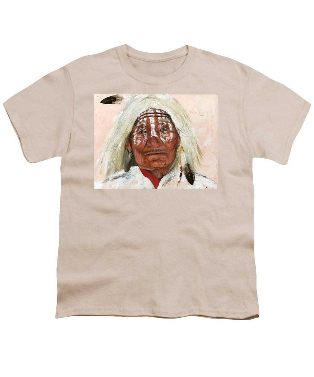 Southwest Art Youth T-Shirt featuring the painting Ghost Shaman by J W Baker