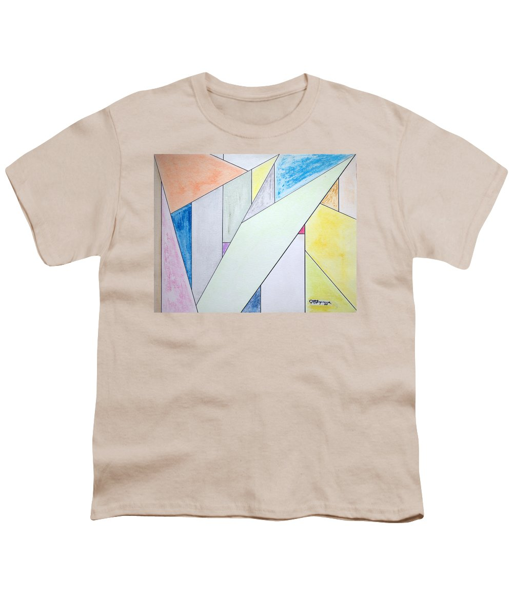 Buildings Youth T-Shirt featuring the mixed media Glass-scrapers by J R Seymour