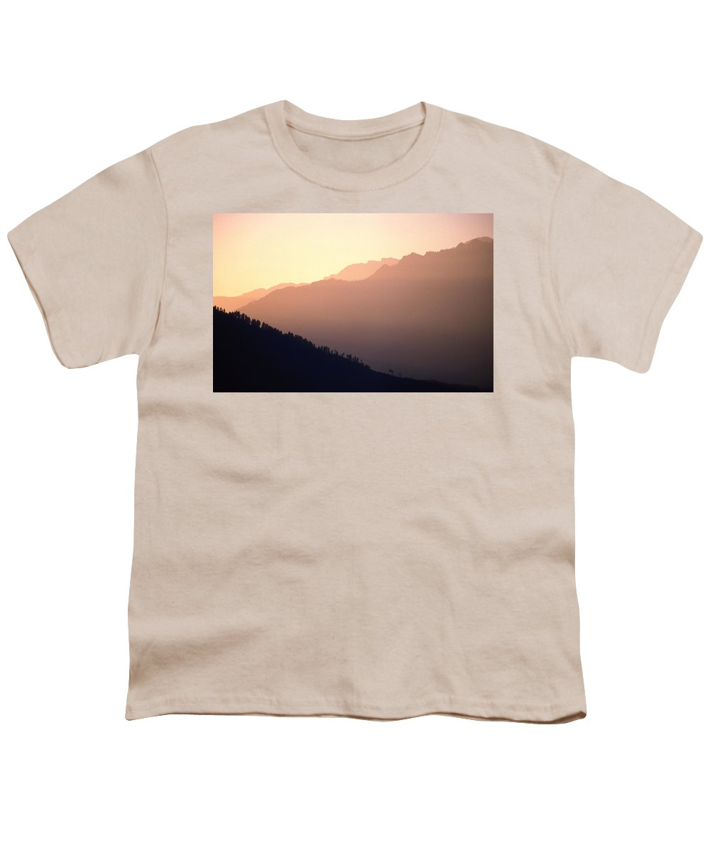 Langtang Youth T-Shirt featuring the photograph Golden Mountains by Patrick Klauss