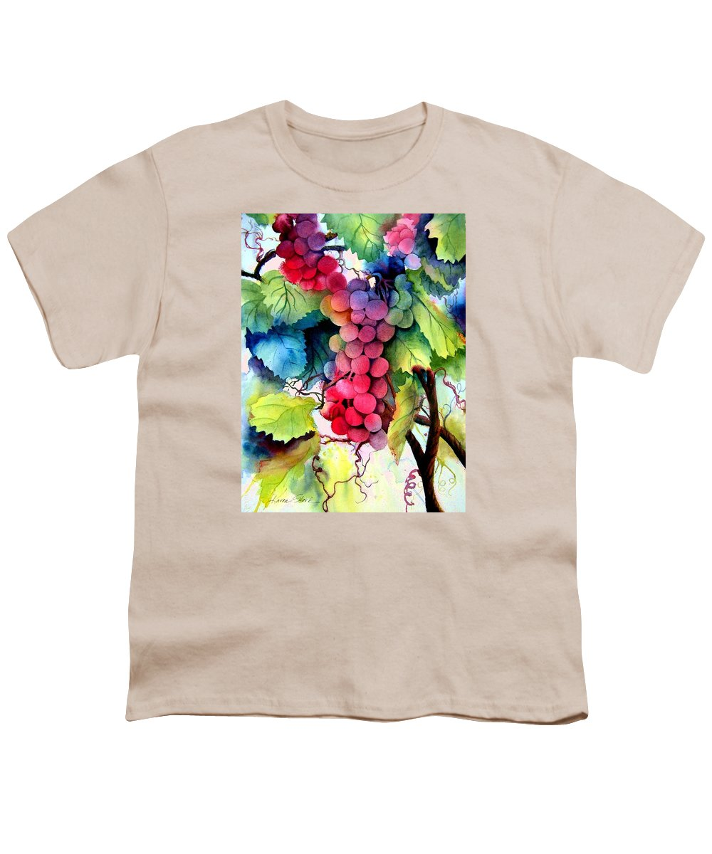 Grapes Youth T-Shirt featuring the painting Grapes by Karen Stark