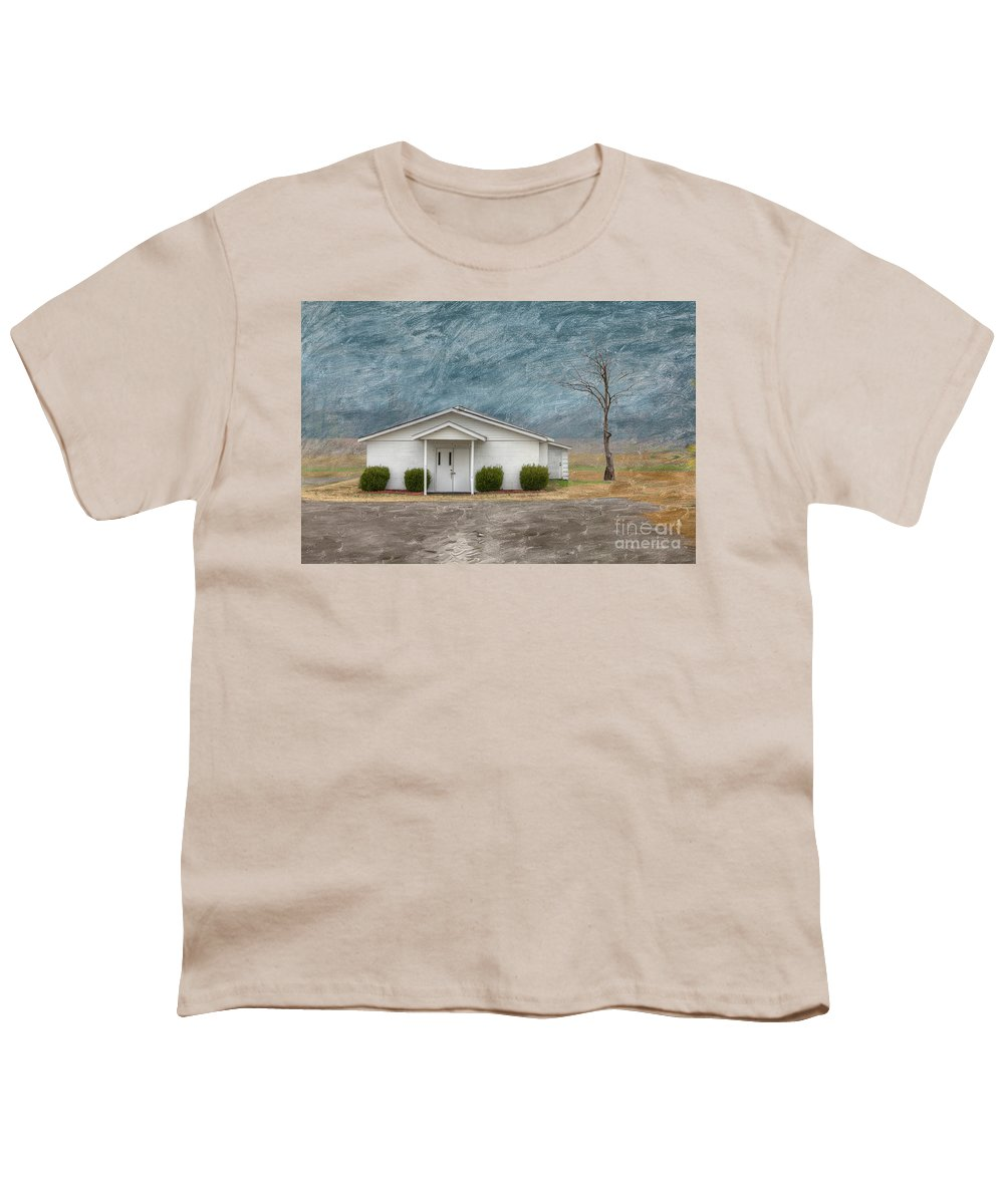 Horizontal Youth T-Shirt featuring the digital art Haywood City Missouri by Larry Braun