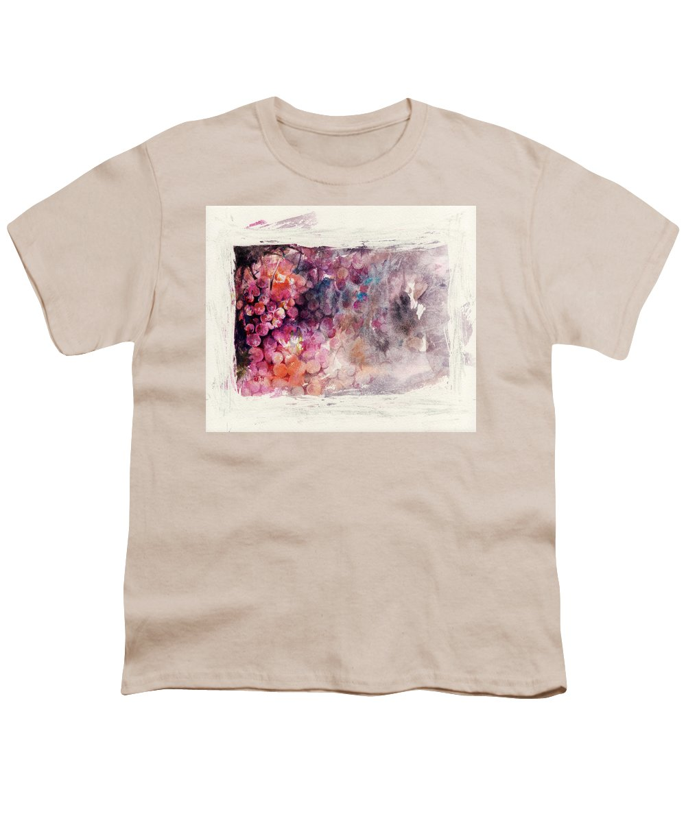 Grapes Youth T-Shirt featuring the painting Hidden Beauty by Rachel Christine Nowicki