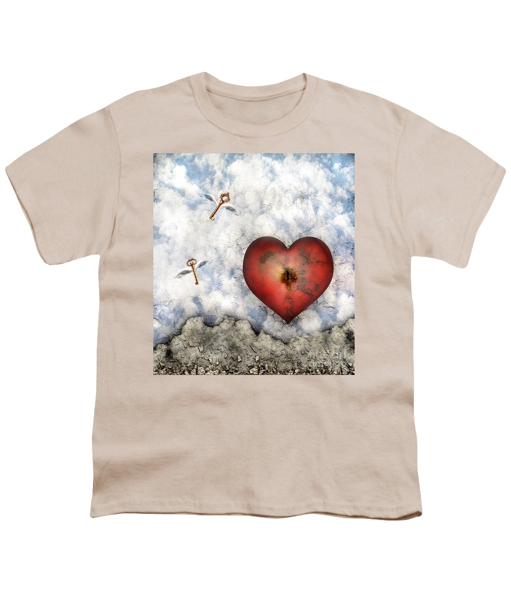 Heart Youth T-Shirt featuring the digital art Hope Floats by Jacky Gerritsen
