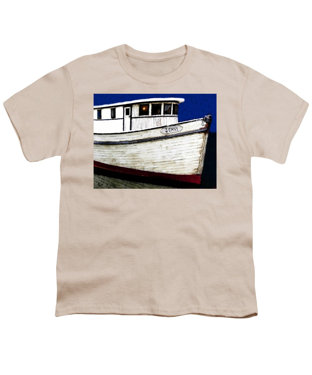 Art Youth T-Shirt featuring the painting Jenny by David Lee Thompson