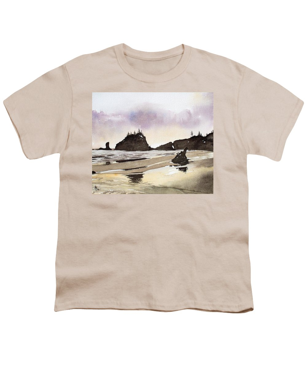 Washington Youth T-Shirt featuring the painting Lapush by Gale Cochran-Smith
