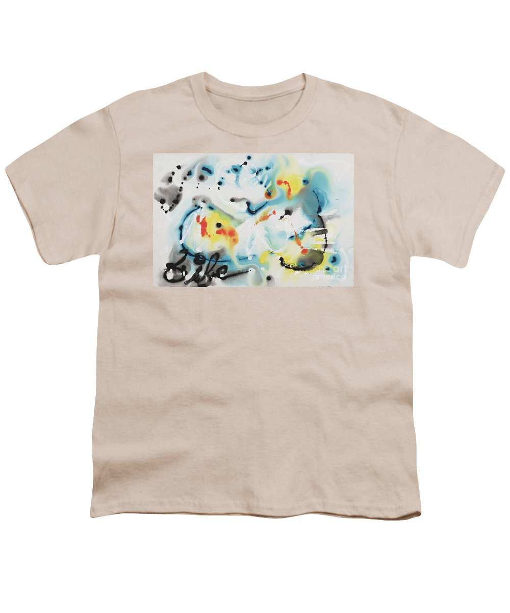 Life Youth T-Shirt featuring the painting Life by Nadine Rippelmeyer