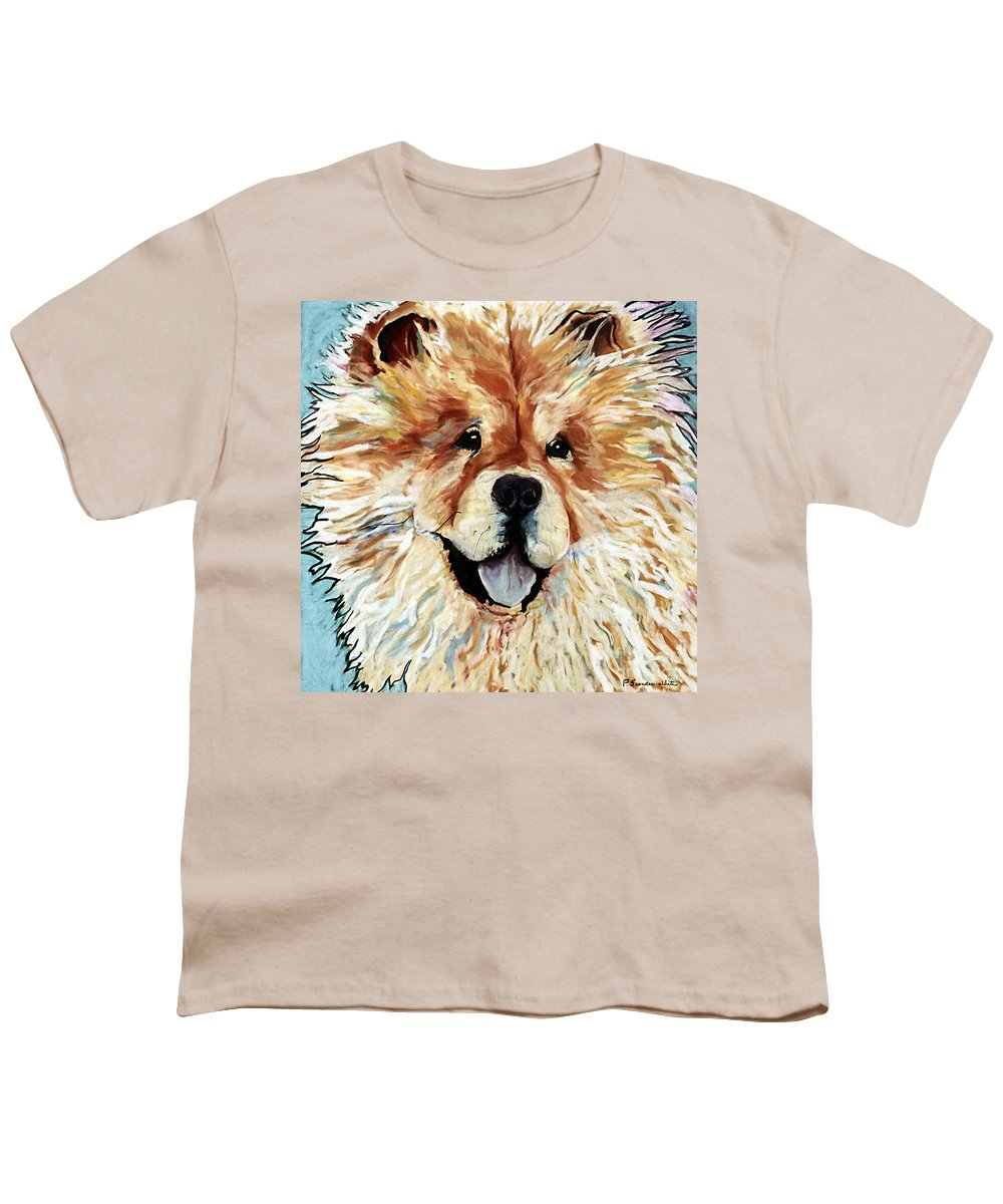 Chow Chow Youth T-Shirt featuring the pastel Madame Chu Cho by Pat Saunders-White