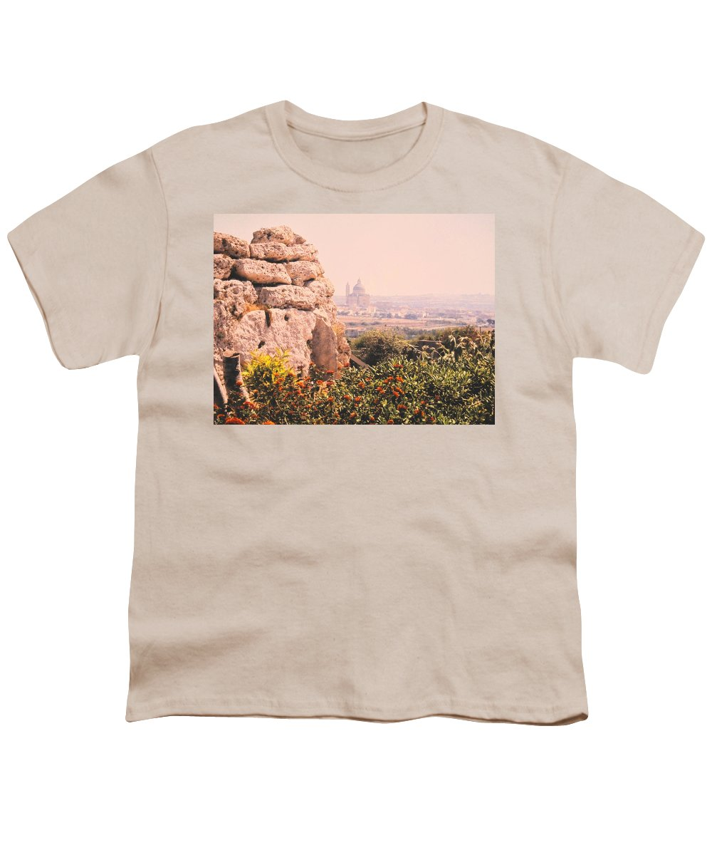 Malta Youth T-Shirt featuring the photograph Malta Wall by Ian MacDonald