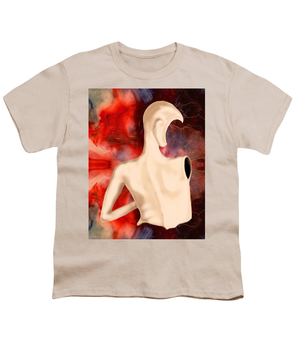 Woman Fashion Naked Surreal Abstract Youth T-Shirt featuring the digital art Manequin by Veronica Jackson