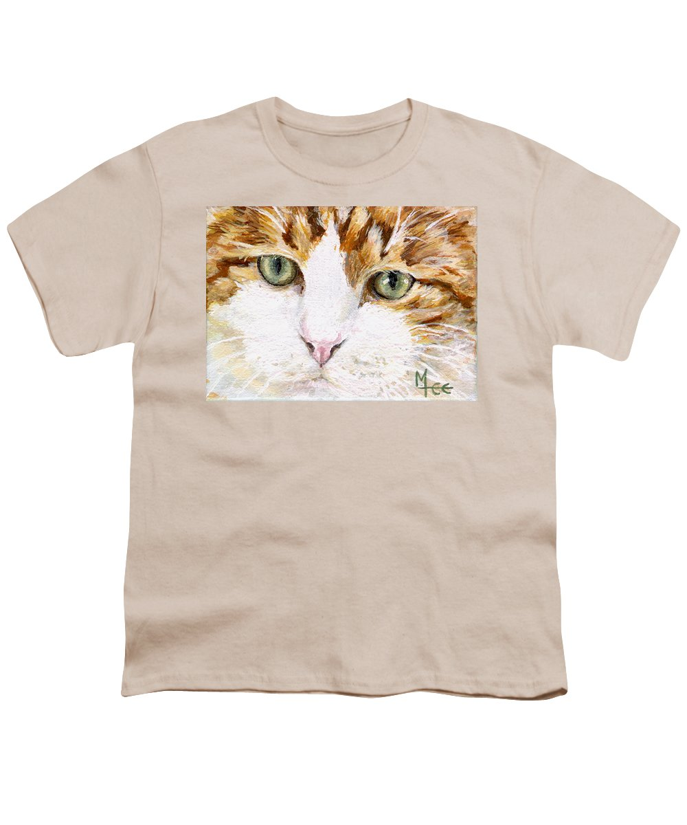 Charity Youth T-Shirt featuring the painting Max by Mary-Lee Sanders