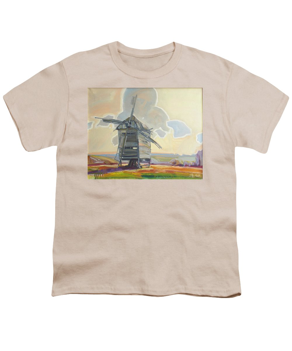 Oil Youth T-Shirt featuring the painting Mill by Sergey Ignatenko