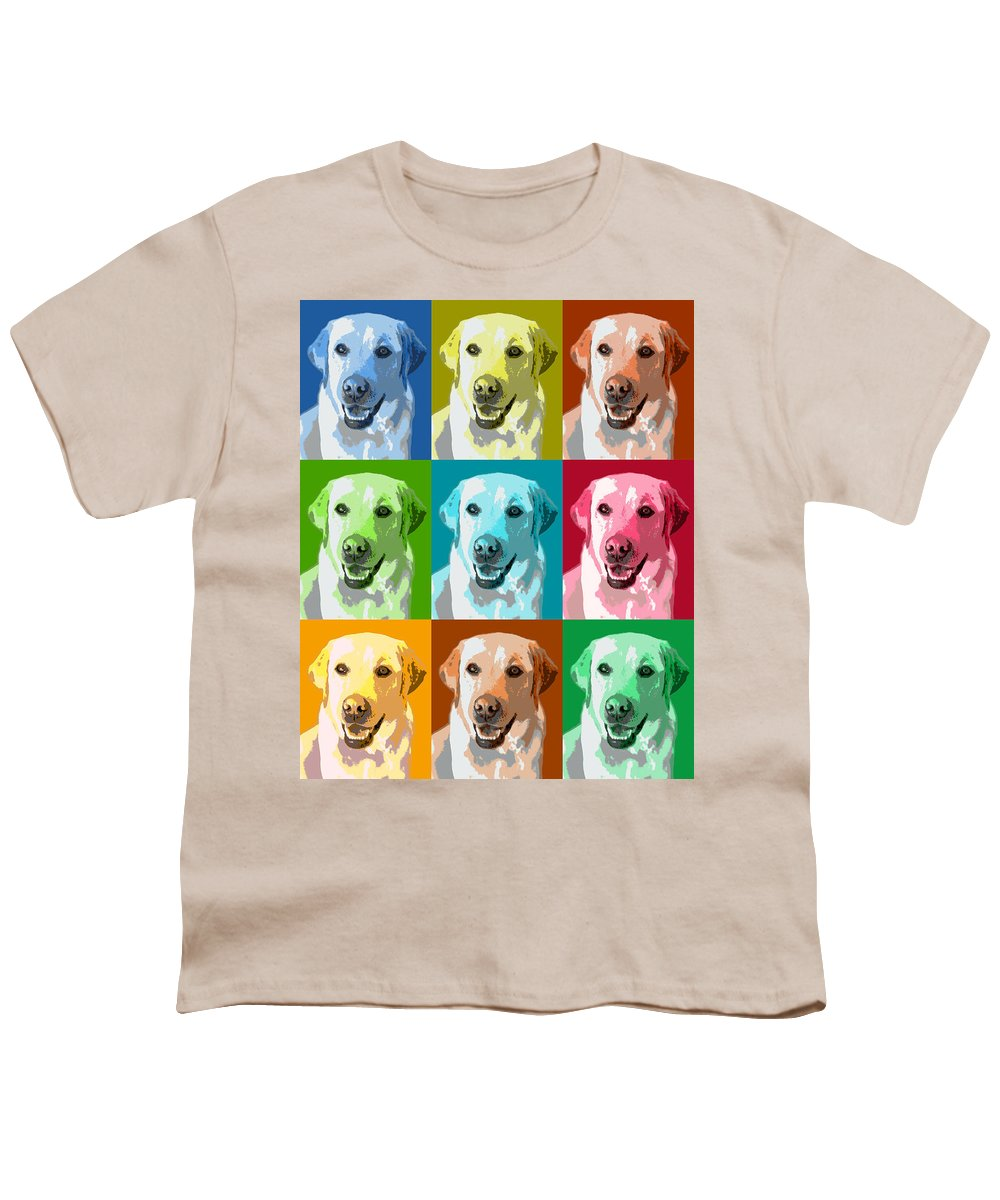 Americana Youth T-Shirt featuring the photograph Golden Retriever Warhol by Marilyn Hunt