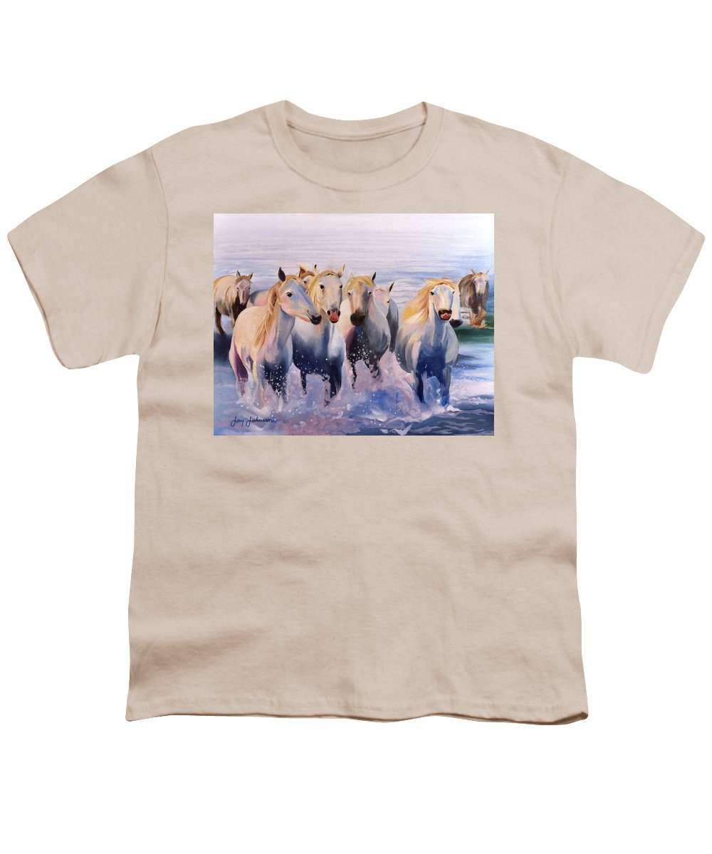 Youth T-Shirt featuring the painting Morning Run by Jay Johnson
