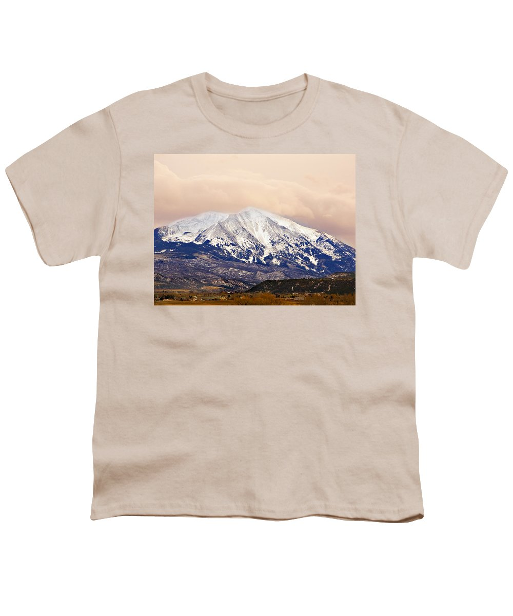 Americana Youth T-Shirt featuring the photograph Mount Sopris by Marilyn Hunt
