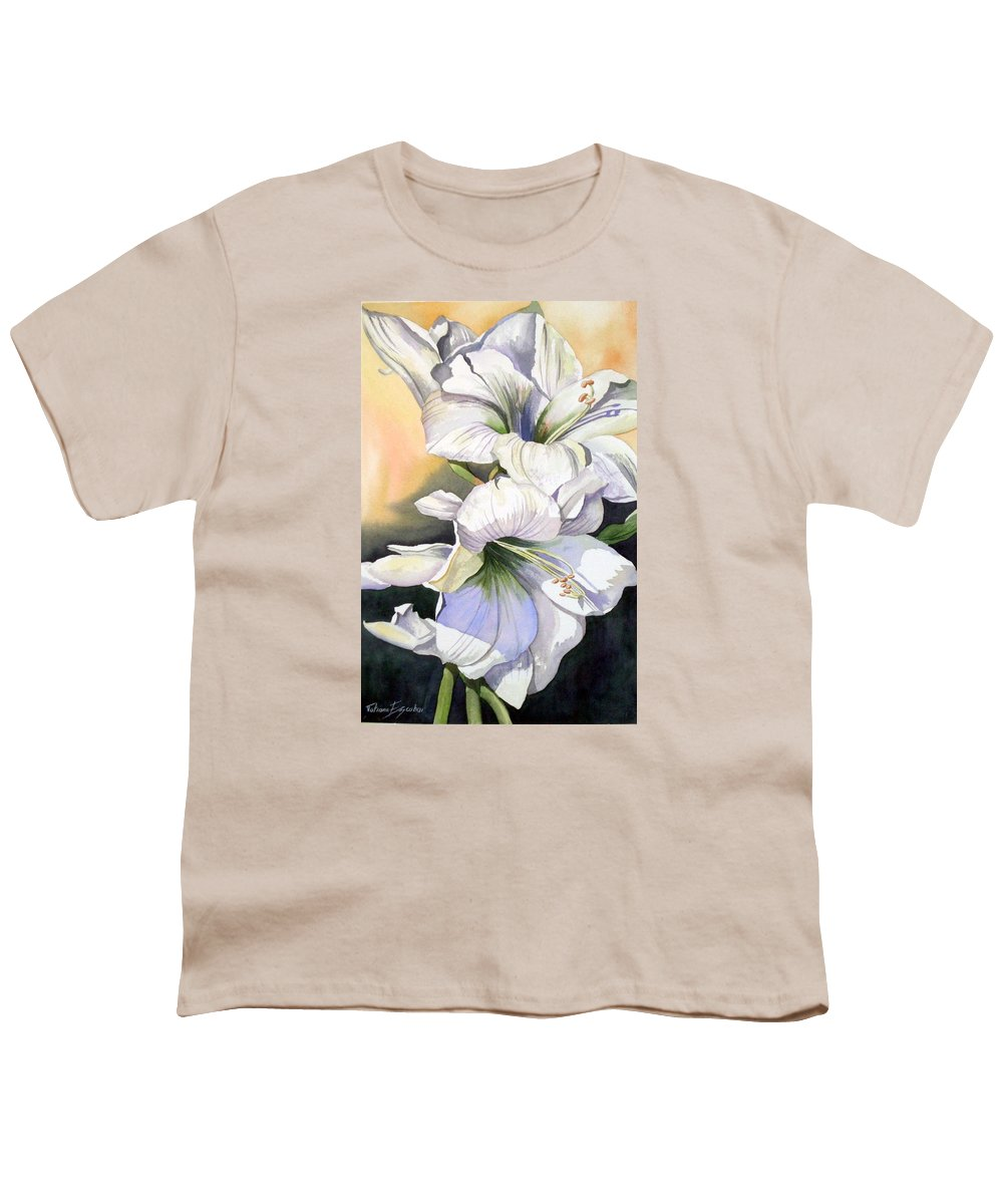 Flower Youth T-Shirt featuring the painting My Love by Tatiana Escobar