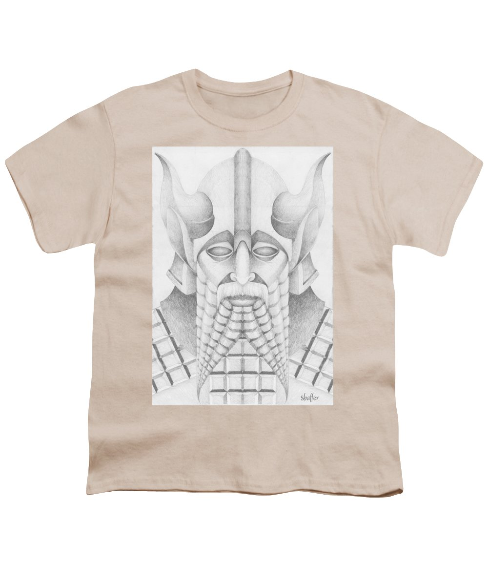 Babylonian Youth T-Shirt featuring the drawing Nebuchadezzar by Curtiss Shaffer