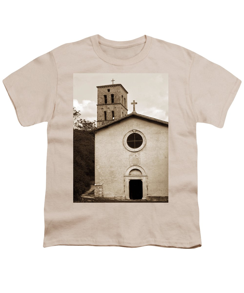 Curch Youth T-Shirt featuring the photograph Nice Old Church For Wedding by Marilyn Hunt