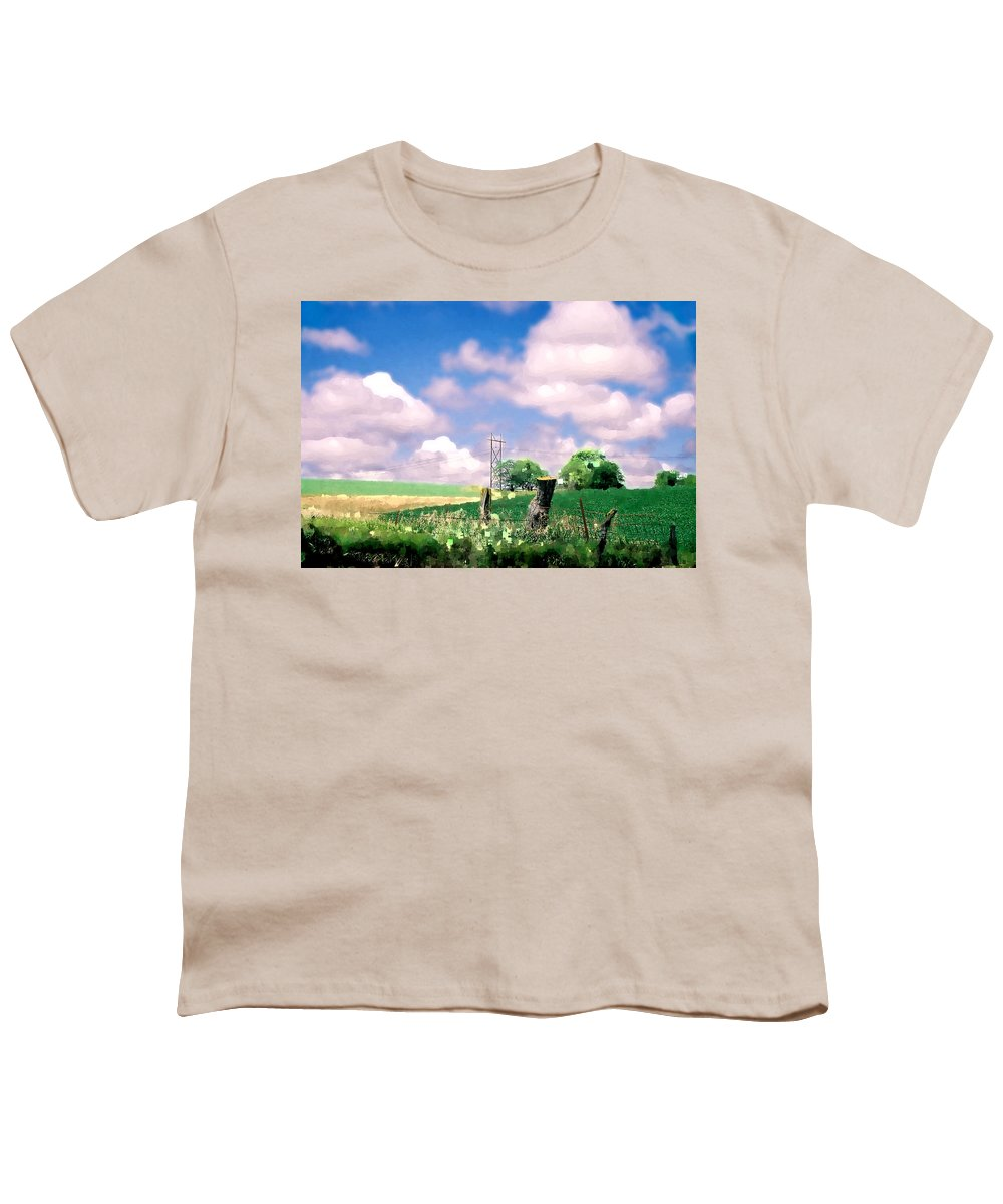Landscape Youth T-Shirt featuring the photograph Off The Grid by Steve Karol