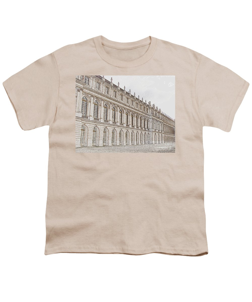 France Youth T-Shirt featuring the photograph Palace Of Versailles by Amanda Barcon