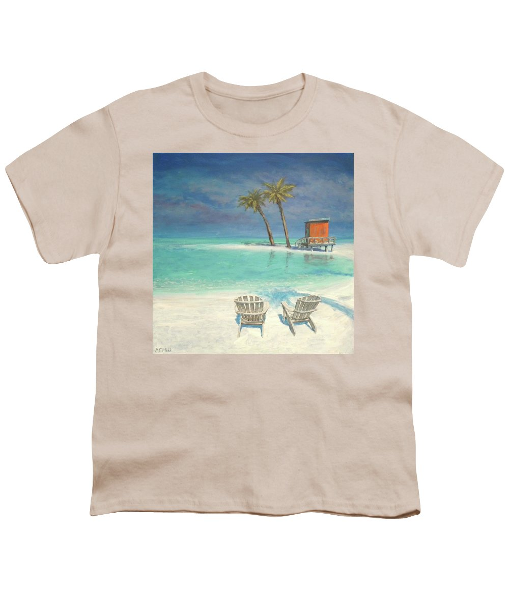 Beach Youth T-Shirt featuring the painting Paradise Dream by Paul Emig
