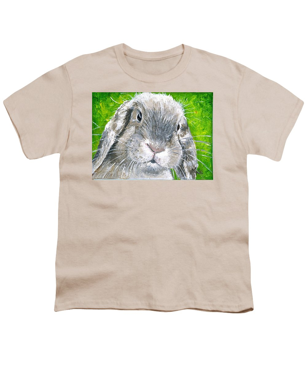 Charity Youth T-Shirt featuring the painting Parsnip by Mary-Lee Sanders