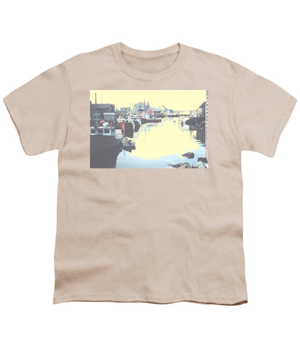 Nova Scotia Youth T-Shirt featuring the photograph Peggy by Ian MacDonald