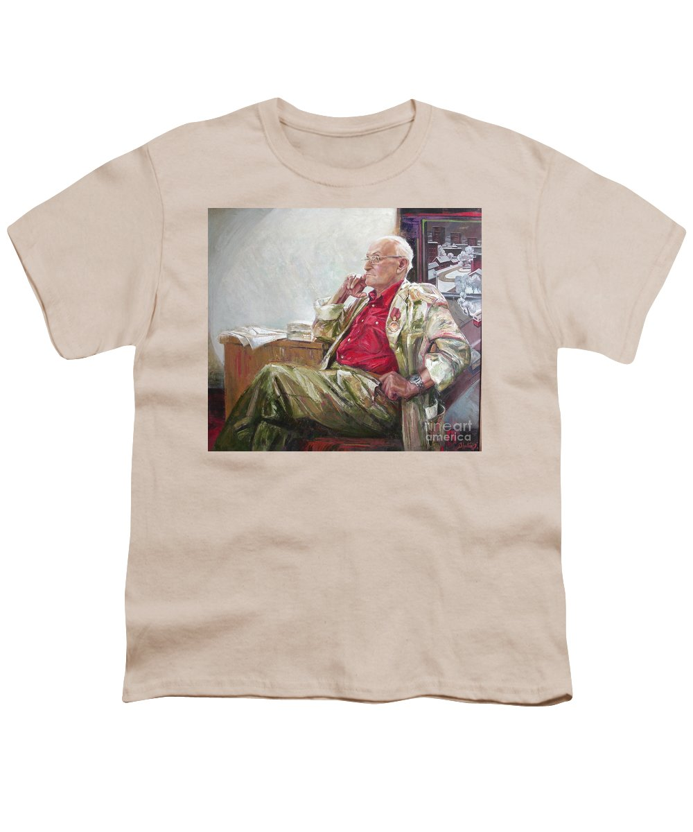 Oil Youth T-Shirt featuring the painting Portrait Of May Dancig by Sergey Ignatenko
