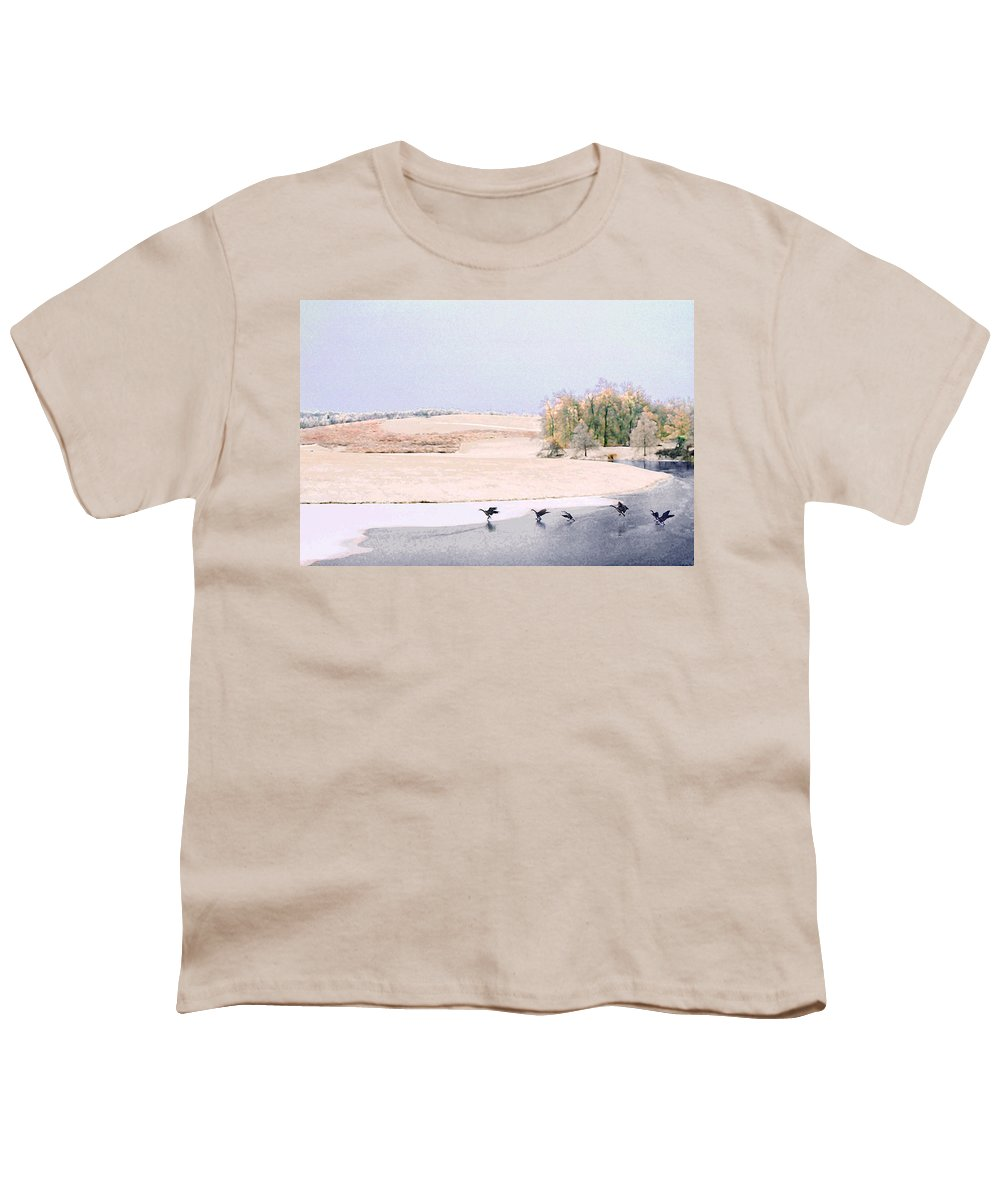 Landscape Youth T-Shirt featuring the photograph Powell Gardens In Winter by Steve Karol