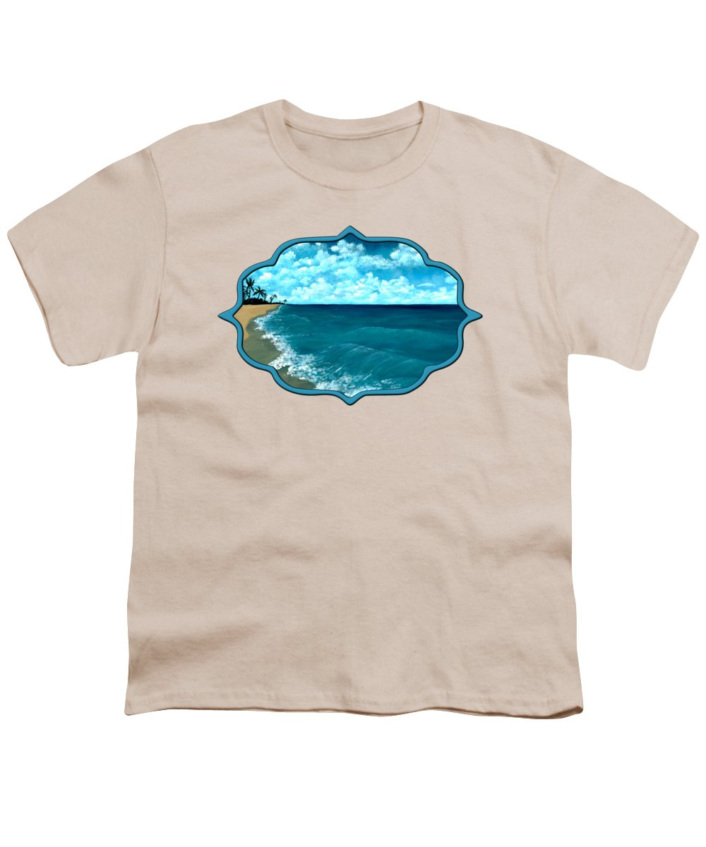 Blue Youth T-Shirt featuring the painting Punta Cana Beach by Anastasiya Malakhova