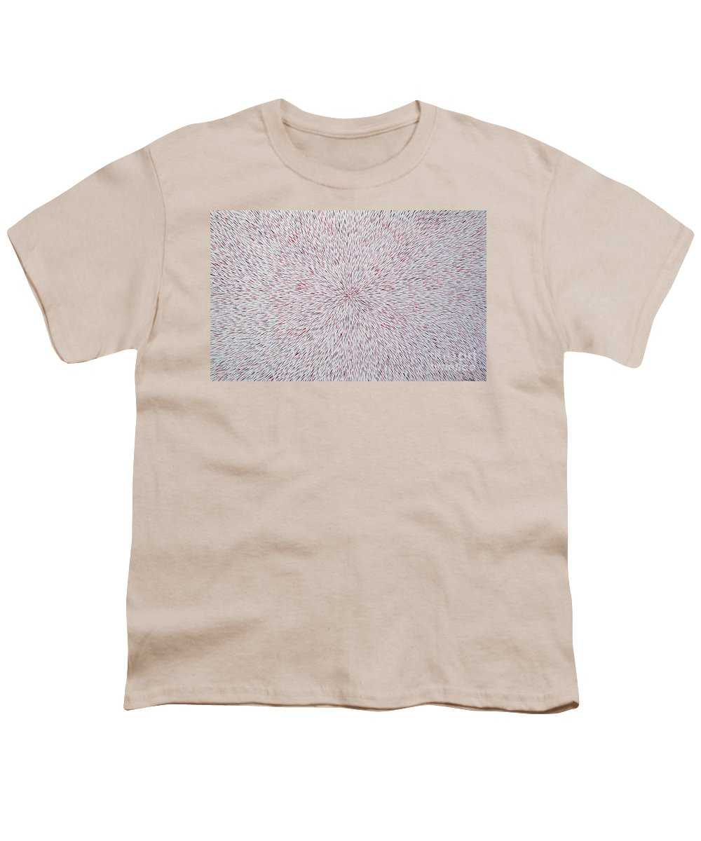 Abstract Youth T-Shirt featuring the painting Radiation With Black And Red by Dean Triolo