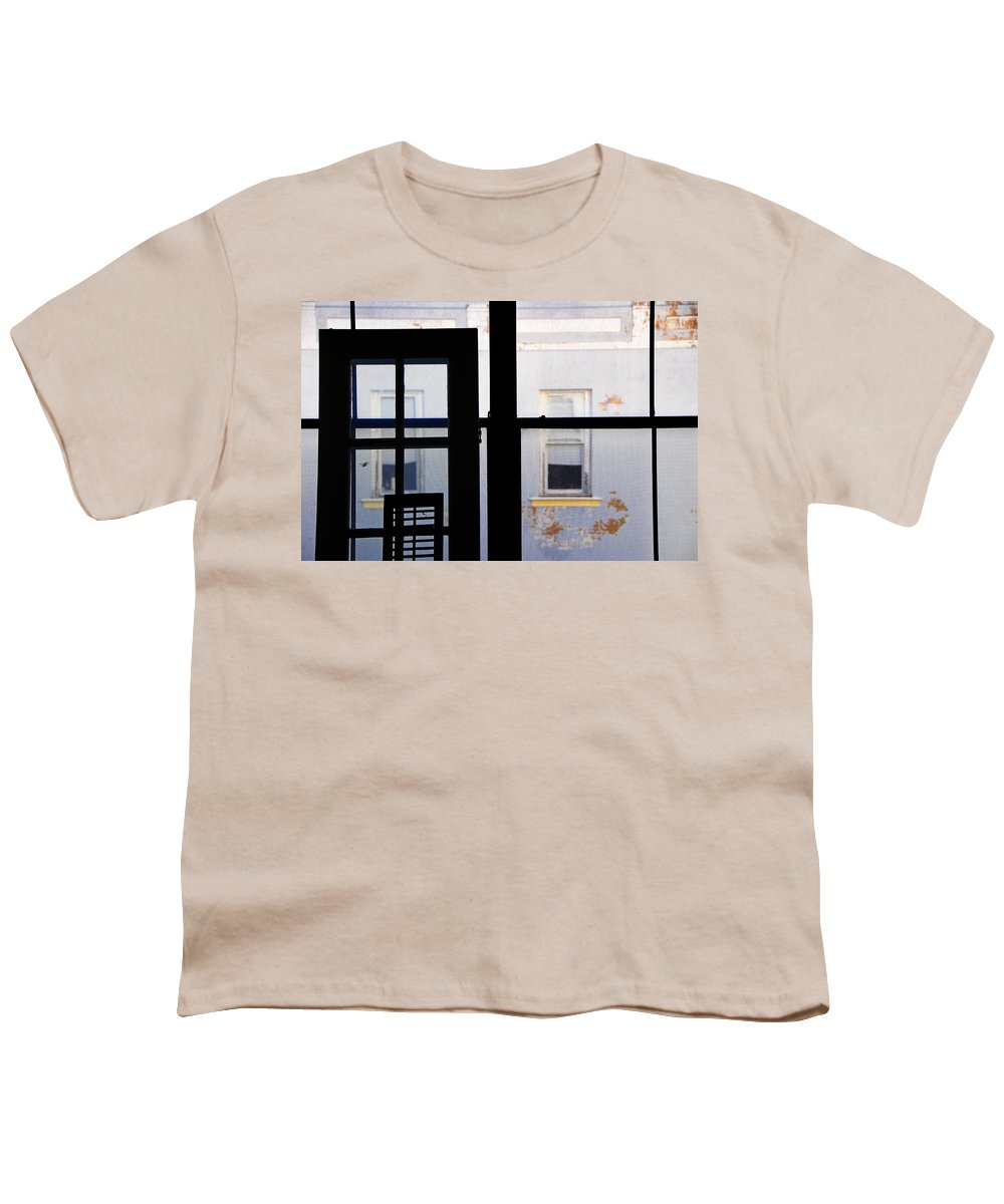 Architecture Youth T-Shirt featuring the photograph Rear Window 3 by Skip Hunt