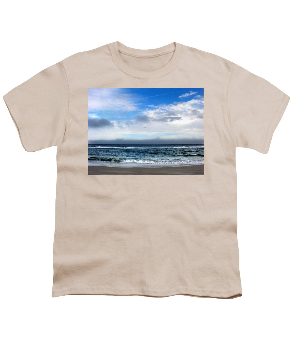 Seascape Youth T-Shirt featuring the photograph Receding Fog Seascape by Steve Karol